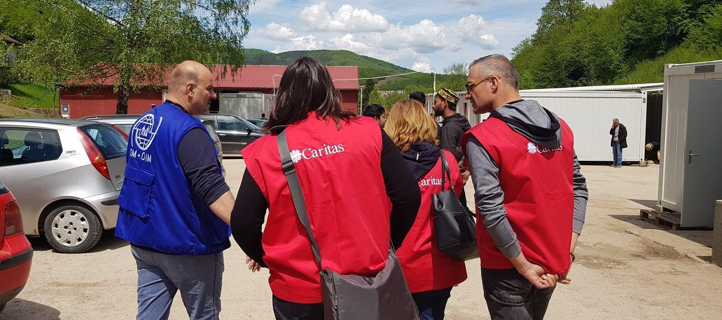 Caritas Slovenia visits reception camp