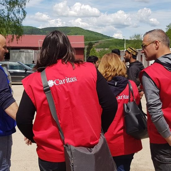 Caritas Slovenia visits reception camp
