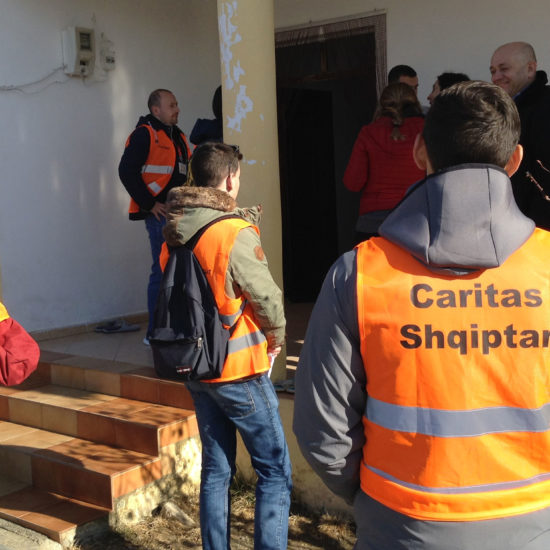 Caritas Albania supporting earthquake victims